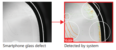 Defect detection of smartphone glass
